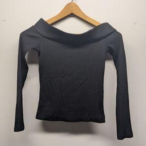 Wilfred Long Sleeve Top Black Off Shoulders